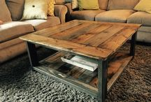 Pallet coffee table square