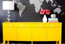 Yellow furniture / Muebles restaurados amarillos