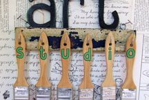 Just saying art room / by Patricia Larsen