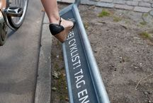 Bike-friendly urban design / Copenhagen urban design details showing how to create a bike-friendly city.