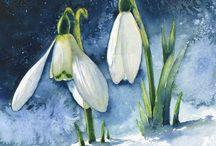 Рисунки - Весенние цветы.