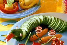 Gemüserohkost deko