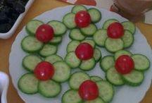 Süslü yemek sunumları