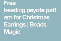 Peyote patterns / Peyote, brick stitch, loom, square stitch patterns. Free, for sale, for inspiration