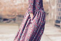 Silk dress long