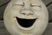 Faces in clay