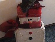 Christmas Crafts - Cement Pavers / by Chrissy Burton