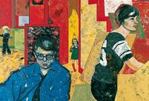 [1970 - 1989] School of London / In 1976, at the height of minimal art and conceptual art, the American painter R.B. Kitaj, then based in Britain, organised an exhibition titled The Human Clay at the Hayward Gallery in London. It exclusively consisted of figurative drawing and painting, which proved to be highly controversial to an art world which was dominated by abstraction. In his catalogue text, Kitaj used the term School of London loosely to describe the artists he had brought together. The name has stuck to refer to painters at that time who were doggedly pursuing forms of figurative painting.  The chief artists associated with the idea of the School of London, in addition to Kitaj himself, were Michael Andrews, Frank Auerbach, Francis Bacon, Lucian Freud, David Hockney (although living in the USA), Howard Hodgkin, and Leon Kossoff. The work of these artists was brought into fresh focus and given renewed impetus by the revival of interest in figurative painting by a younger generation that took place in the late 1970s and the 1980s (see neo-expressionism and new spirit painting).