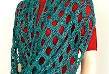 Cuellos y bufandas a crochet