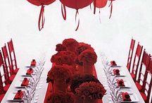 Red & White Wedding