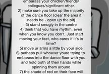 How to dance: a series of written instructions. by Erin McDougle  / Satirically mocking the art that is dance.
