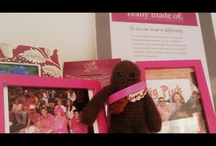 Chewy Digs Pink / Crocheted Chewy has become the Flat Stanley (http://www.flatstanley.com/about) of The Side-Out Foundation.  Perhaps we will mail him out in the future to teams hosting Dig Pink events so he can see firsthand what volleyball teams are doing to support the breast cancer community!