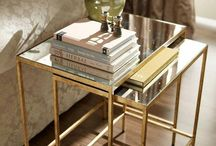 End tables brass