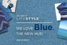 Blue is the new hue! / Surefit brings you the latest in home fashions! With slipcovers, it's easy to change color!
