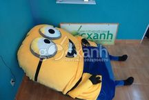 Minion Mattress / Minion Sleeping bed designed and produced by Goc Xanh Vietnam with Korea Cold Velvet.