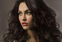 Beautiful female face ART