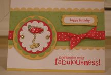 Cards I stamped / These are the cards I stamped myself. Some of them are original design, some CASEd from others. I don't always have the reference to give credit for the inspiration since some were stamped a while ago. Most cards stamped using exclusively Stampin' Up!  / by Diane P.