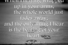 Love...happiness...heartbeats...heartbreaks / Mushy quotes. Love quotes. Heartbreak quotes.  Living a happy life quotes. And my boyfriend pics!