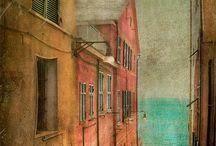 живопись дома и улицы