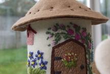 felt cottage,fairy house