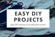 Easy DIY Projects / Simple, easy DIY projects in an afternoon or less