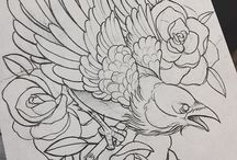 pássaros tattoo e desenhos