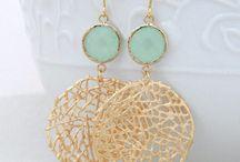 Wedding Earrings! / BIG GOLD / by Lisa S