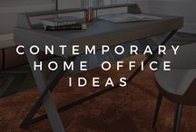 CONTEMPORARY HOME OFFICE IDEAS / Contemporary home office ideas and inspirations by ALTTO Living. Turn your home office into a cozy and productive corner. www.altto.com