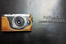 Fujifilm X70 カメラケース leather case 相機皮套 designed by KAZA / Fujifilm X70 カメラケース leather case 相機皮套 designed by KAZA