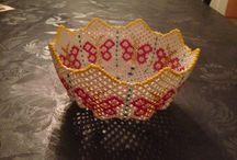 Perleting jeg har laget / Perlebroderi