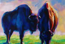 Animal Wildlife Paintings / Acrylic paintings of wildlife, animals and birds