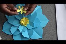 paper flower+gaint flower