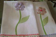 toalla con flor