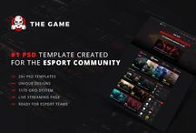 The Game - eSport PSD Gaming Template