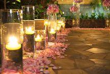 Magia di fiori e luci / Allestimenti floreali e luci, e candele ecc