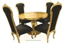 Dinner, Party of 4 / Here are our favorite dining sets! Que chic! www.fabulousandbaroque.com
