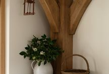Oak beams kitchen