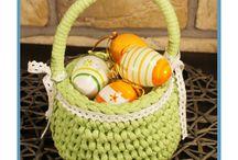 Easter baskets / Original handmade baskets, which will be lovely and cute decoration in your home during Easter.  Oryginalne własnoręcznie wykonane koszyczki, które doskonale posłużą jako subtelna dekoracja podczas Świąt Wielkanocnych.