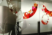 glass sticker design