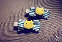 cute ribbon pin / ^^