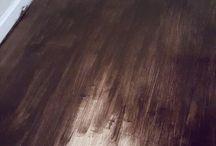 Stain laminate floors