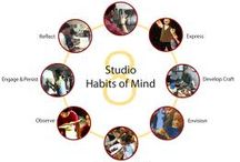 Studio Habits of Mind / Images, interviews and classroom practice that links to any of the 8 studio habits: stretch and explore, express, develop craft, envision, understand community, observe, engage and persist, reflect