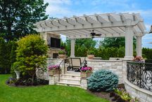 Outdoor Fireplaces & Fire Pits / Custom designed and built fireplaces and fire pits - the perfect addition to an outdoor space that is enjoyed all year long.