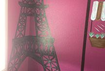 Hannah's Paris themed bedroom ideas / Paris themed bedroom for my Paris mad princess!