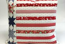 """""""RED WHITE BLUE"""" PILLOWS & MORE"""