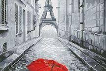 czerwona parasolka