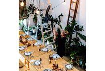 Manger dehors... / Idées de chemins de table et mises en scène pour les repas en extérieur lors des barbecues party, plancha et autres apéros au soleil ou sous les étoiles...