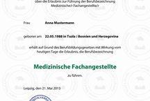 Urkunde kaufen Gesundheits- und Krankenpfleger/in (Krankenschwester) / Dipl. Gesundheits- und Krankenpfleger/-schwester und Dipl. medizinische/r Fachassistent/in.