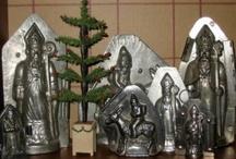 antique kerst choc. mallen
