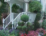 front entrance to garden / ideas for front garden and greenhouses